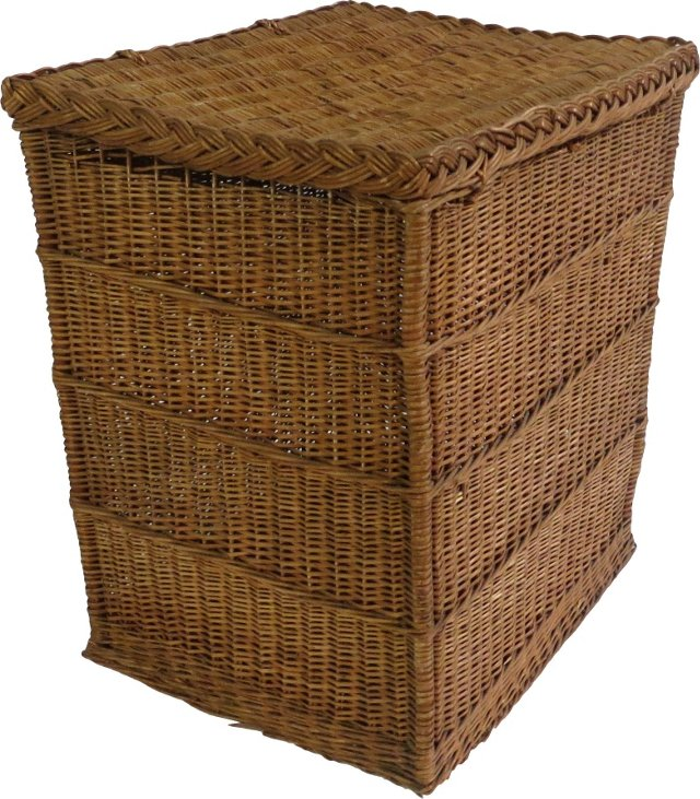 French Basket w/ Hinged Lid