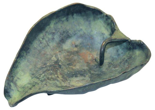 McClelland Barclay Bronze Leaf Dish
