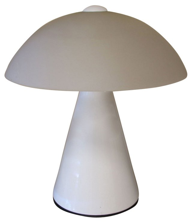 Italian Frosted Glass Lamp by Fabbian