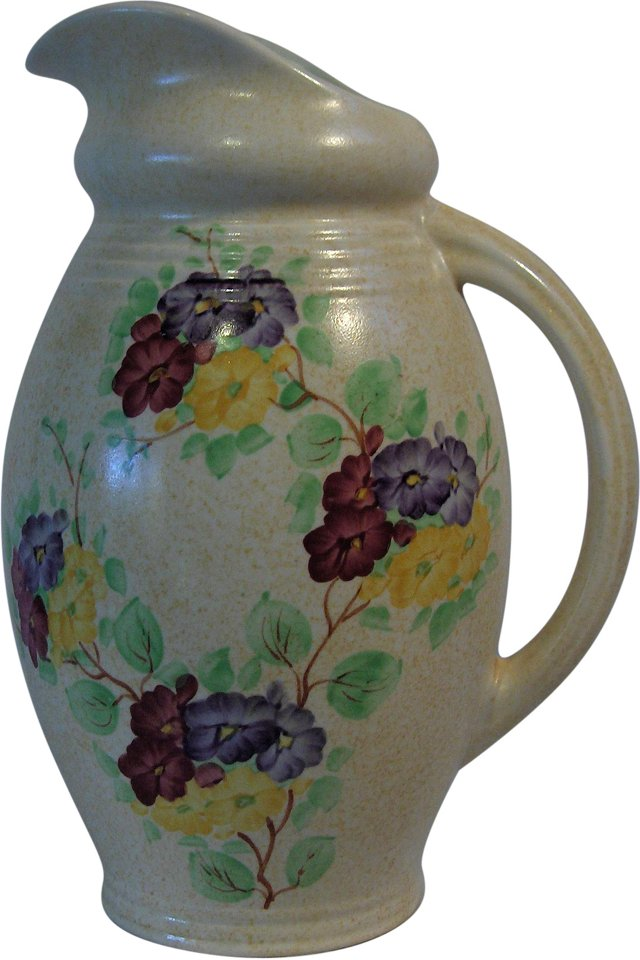Hand-Painted E. Radford Pitcher