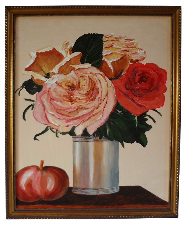 Pomegranate & Roses by Anna Pap