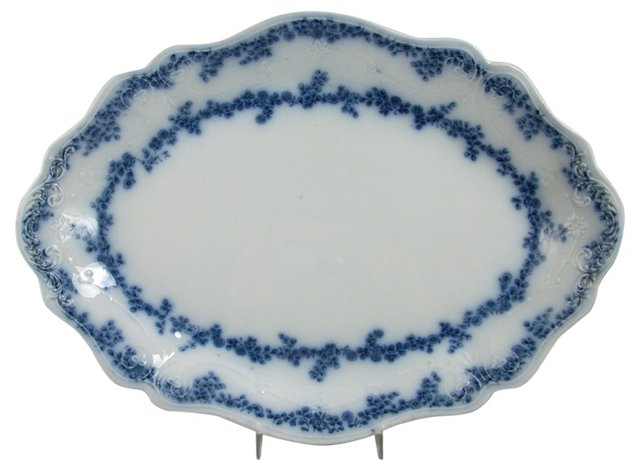 Aldine Flow Blue Platter by Grindley