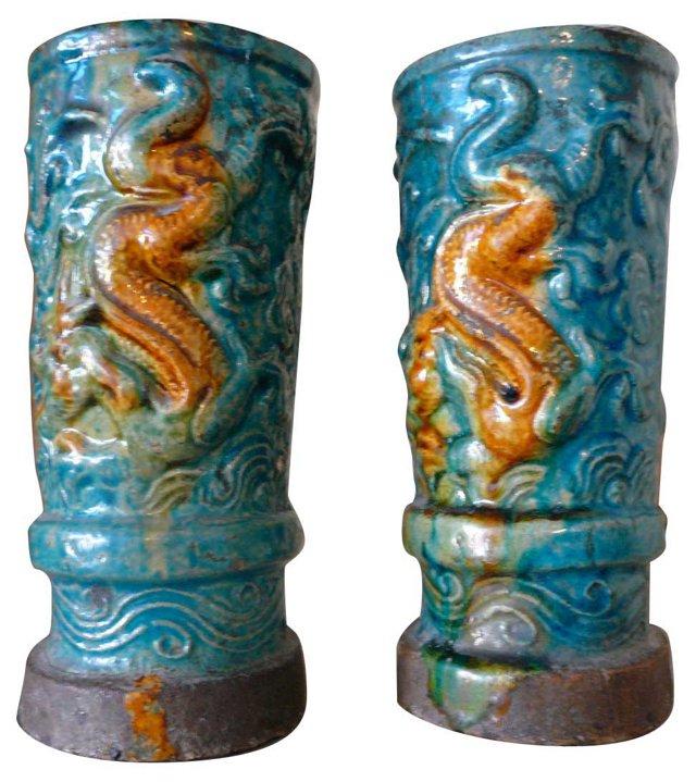 Chinese Vases, Pair
