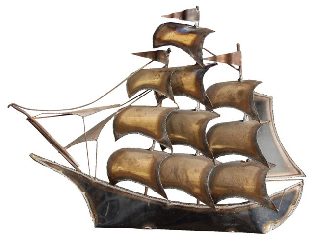 Sailboat Wall Sculpture