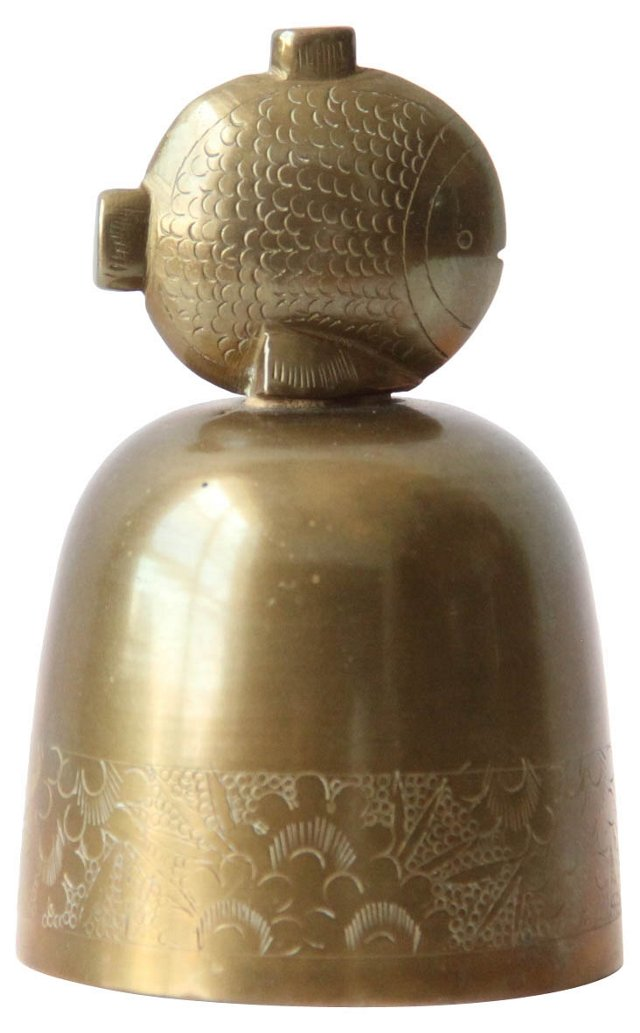 Solid Brass Fish Bell