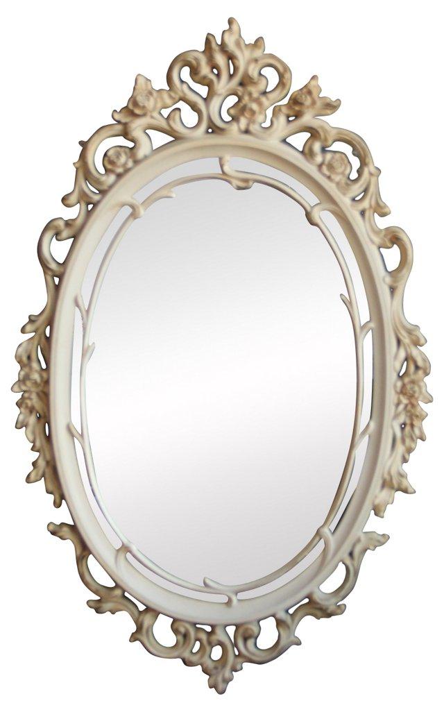 Cream Floral Wall Mirror