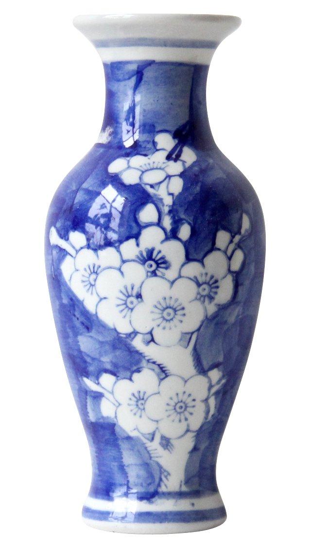 Blue & White Cherry Blossom Vase