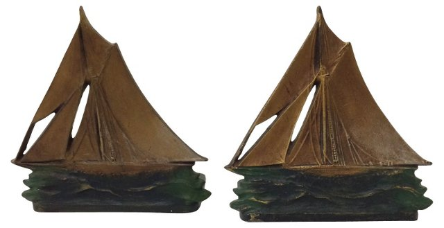 Sailboat Bookends