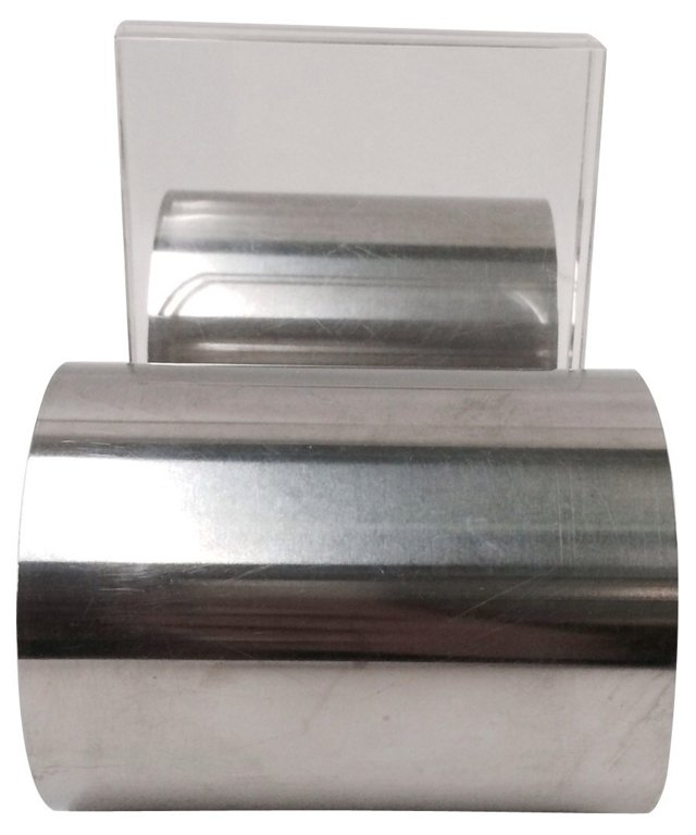 Chrome & Lucite Bookends