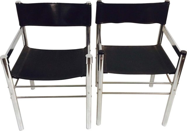 Midcentury Metal  Chairs, Pair