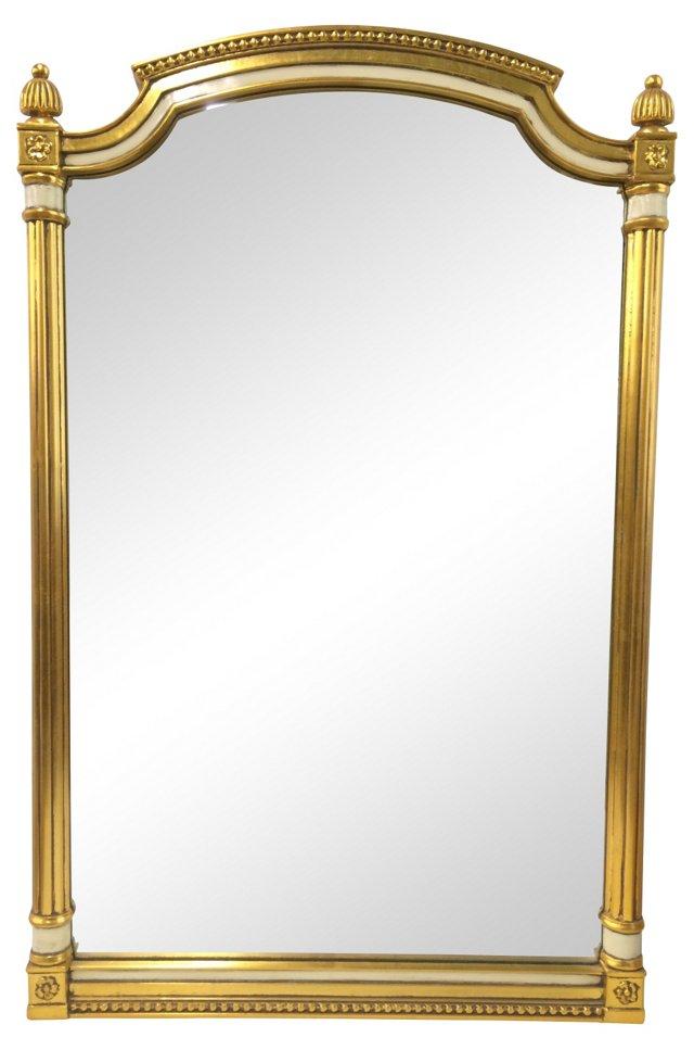 Gold & White Mirror