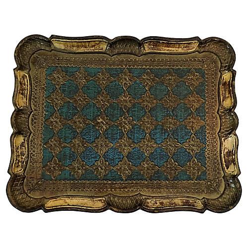 Rectangular Florentine Wood Tray