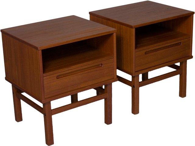 HJN Møbler Side Tables, Pair