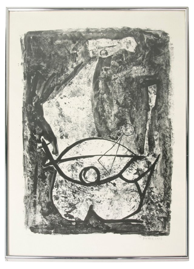 Abstract Horse Litho by Marino Marini