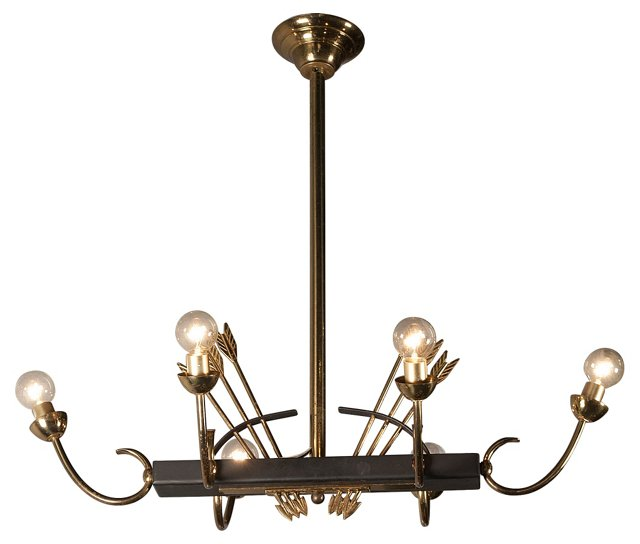 Bronze Arrow Chandelier