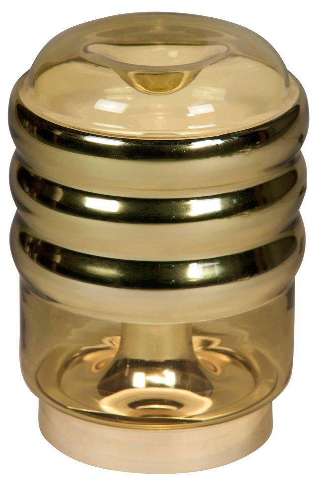Peill Gold Glass Lamp