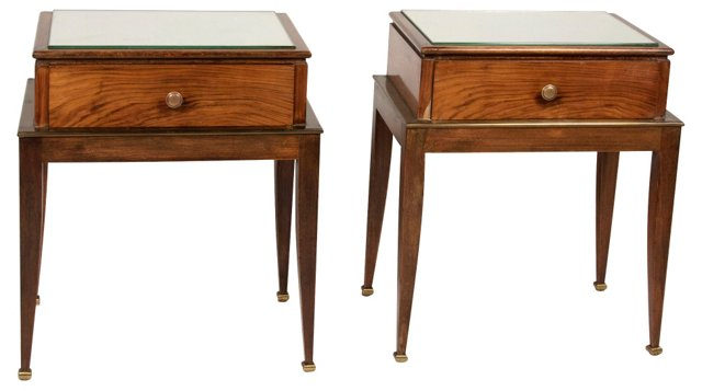 1930s French Side Tables, Pair