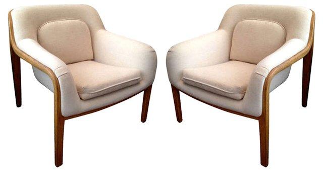 Bill Stephens  Lounge Chairs, Pair