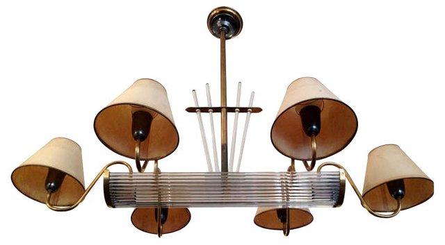French Moderne Billiard Chandelier