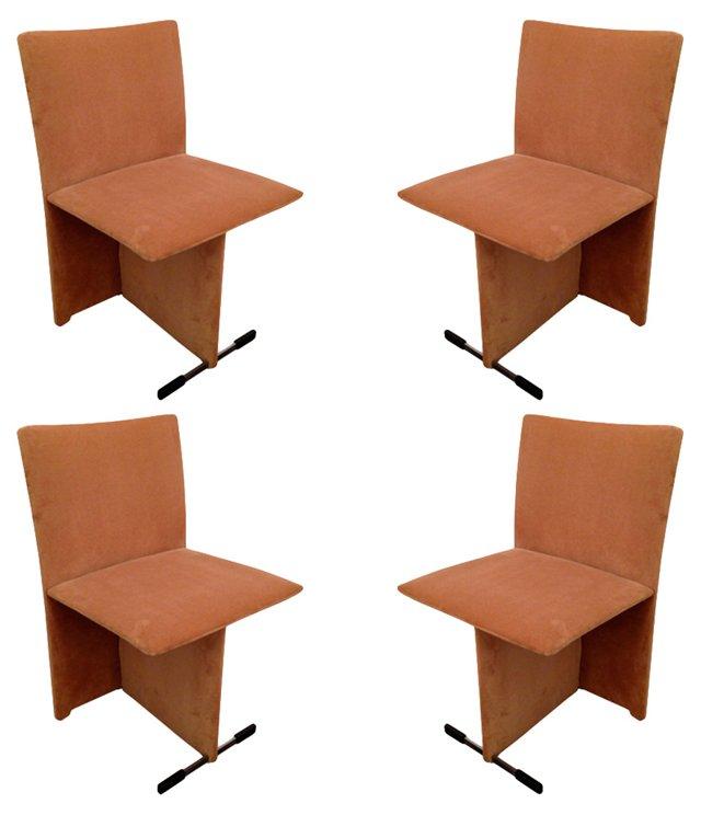 Italian Saporiti Dining Chairs, Set of 4