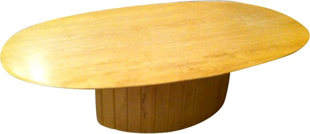 1960s Travertine Coffee Table