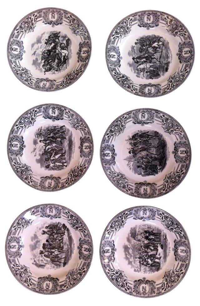 Napoleonic Plates, Set of 6