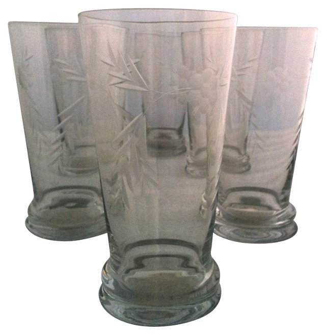 Crystal Water Glasses, S/6