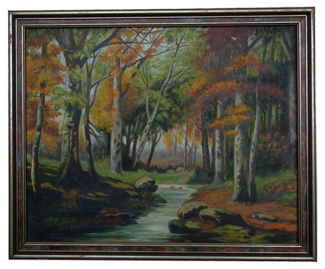 River Through Autumn Leaves
