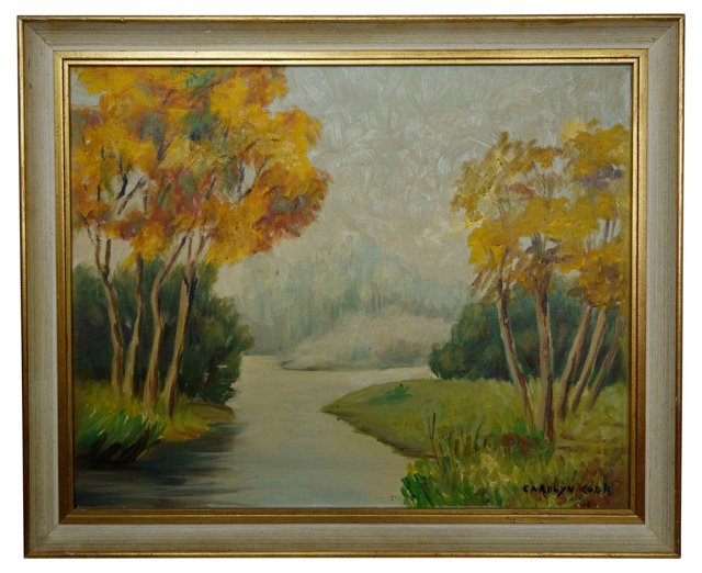 Yellow Trees by Carolyn Cook