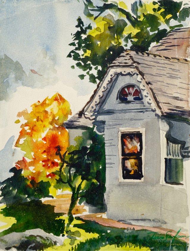 Quaint Home by Thelma Speed Houston