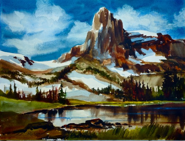 Mountainscape by R. Agnew (1899-1984)