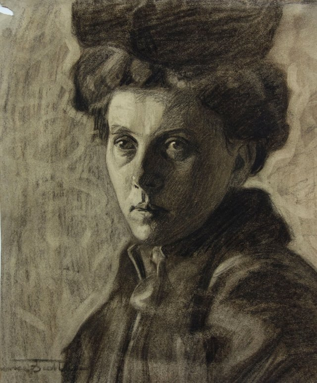 Charcoal Portrait by Clarence Boettcher