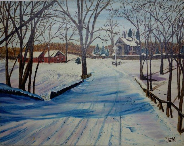 Small Village Winter Day