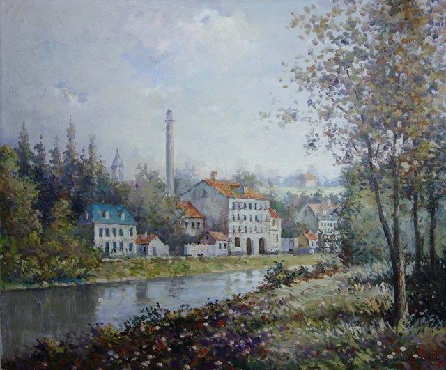 Houses Nestled on the River