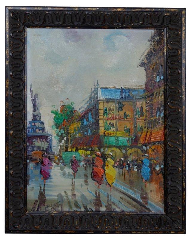 Vibrant Paris Scene