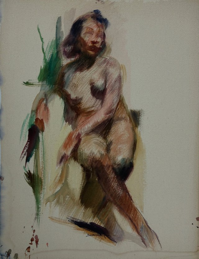 Nude Woman by Emil Kosa