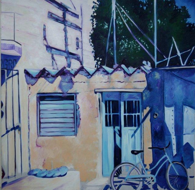 Blue Bike at the House