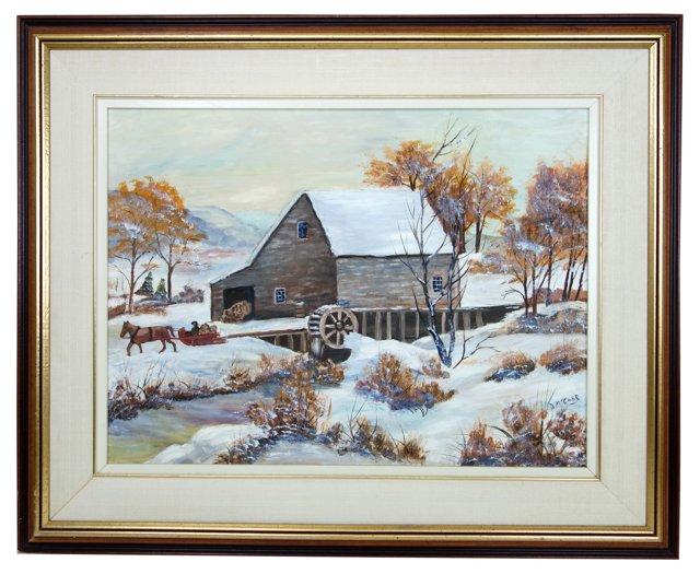 Winter Scene by Doris McCabe