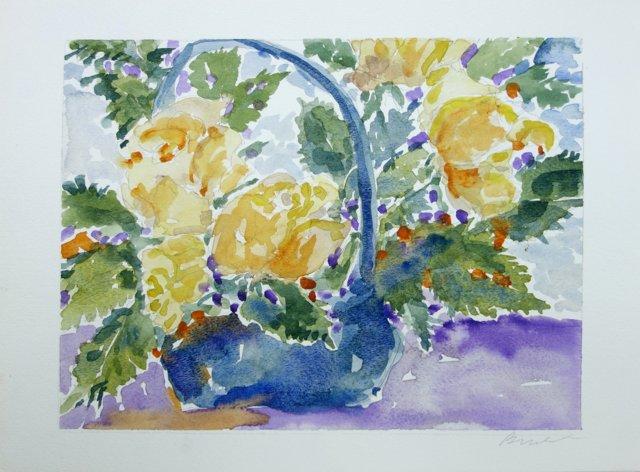 Basket of Roses by Barbara Winkler