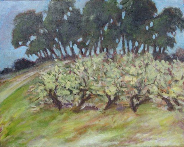 Hillside Trees by Barbara Winkler