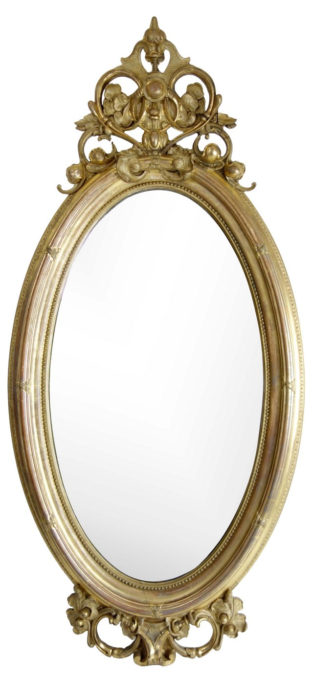 Water-Gilded 19th-C. Mirror