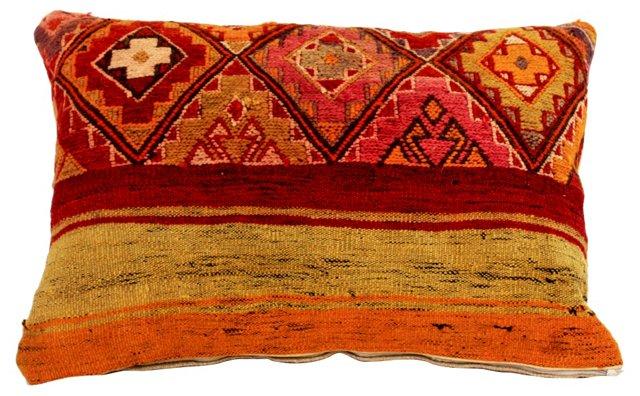 Diamond & Striped Kilim Pillow