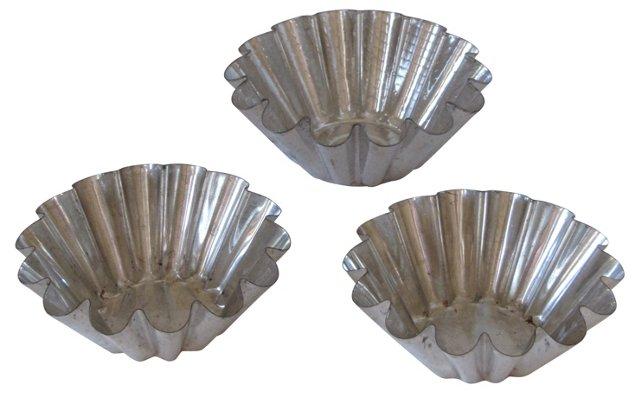 French Brioche Pans, Set of 3