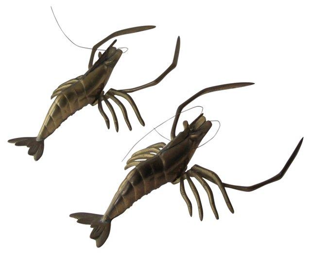 Brass Lobsters, Pair