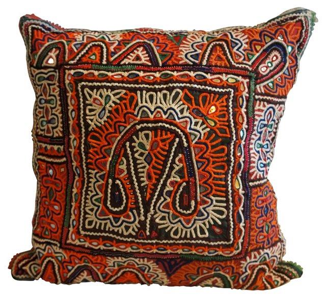 Pillow w/ Antique Tribal Textile