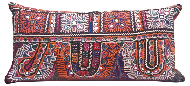 Folk Pillow w/ Intricate Embroidery