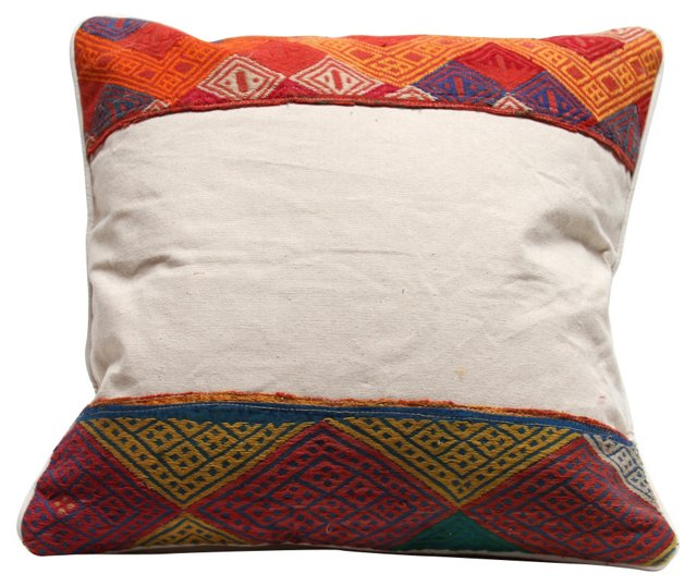 African Tribal  Border Pillow