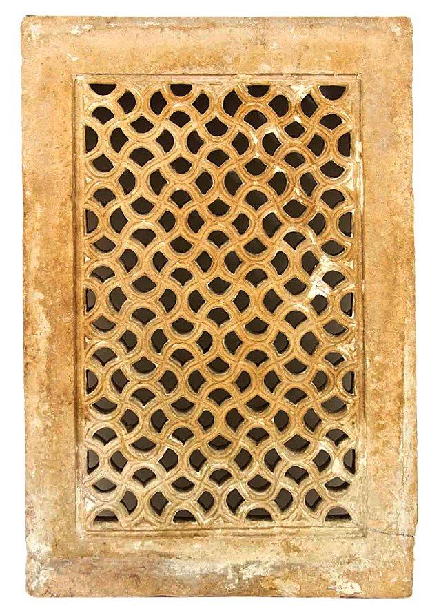 Pierced Stone Window  Jali