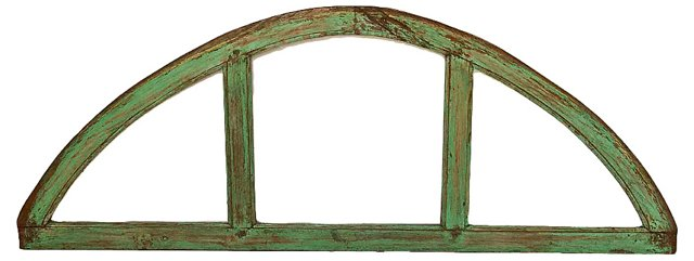 Antique Arched Church Window Panel