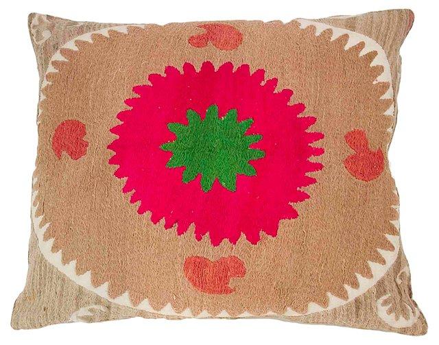 Unique Suzani Linen Pillow